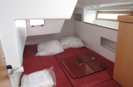 Couchage en cabine babord